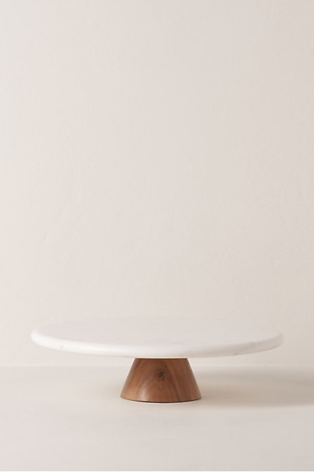 Round Top Marble Cake Stand