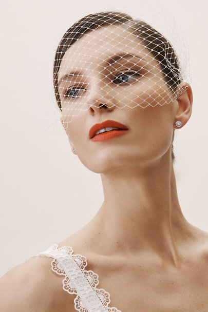 View larger image of Besotted Birdcage Veil