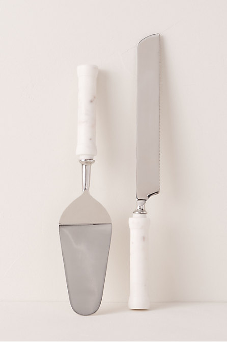 Marble Cake Knife & Server Set
