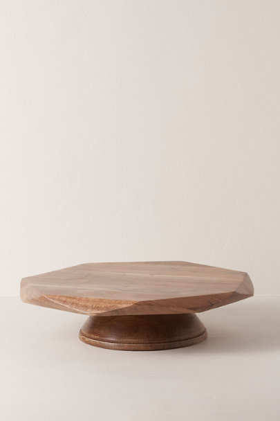 View larger image of Geometric Acacia Cake Stand