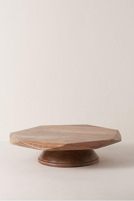Geometric Acacia Cake Stand
