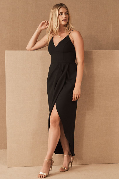 View larger image of Caron V-Neck Crepe Dress