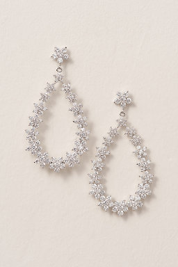 Crystal Bouquet Chandelier Earrings
