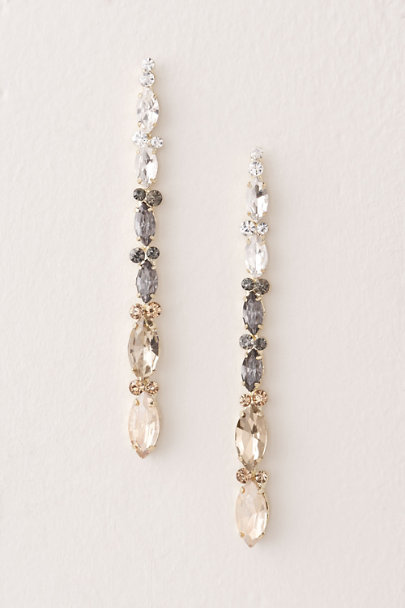 Stella & Ruby Gold Ombre Crystal Earrings | BHLDN