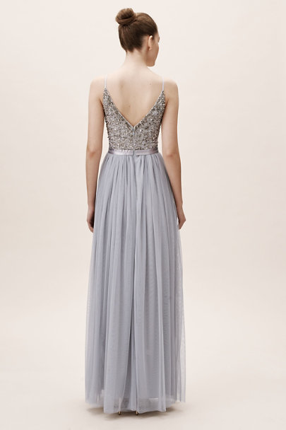 BHLDN Lavender Grey Avery Dress | BHLDN