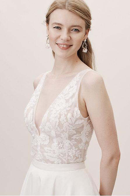 Designer Lace Dress Strapless Allover Alencon Lace Mermaid