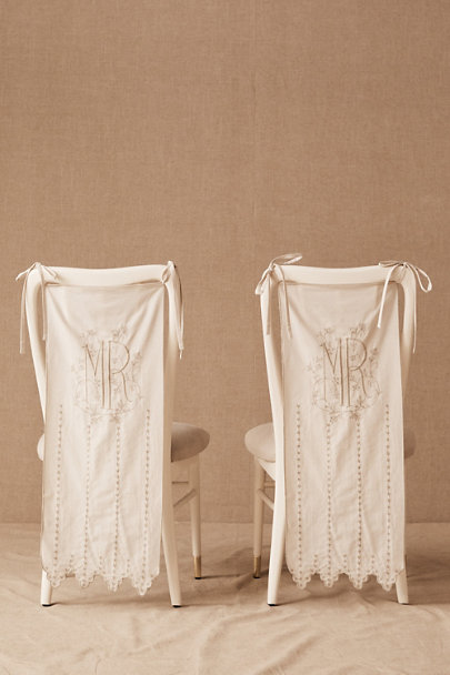 View larger image of Mr. & Mrs. Eyelet Chair Banners