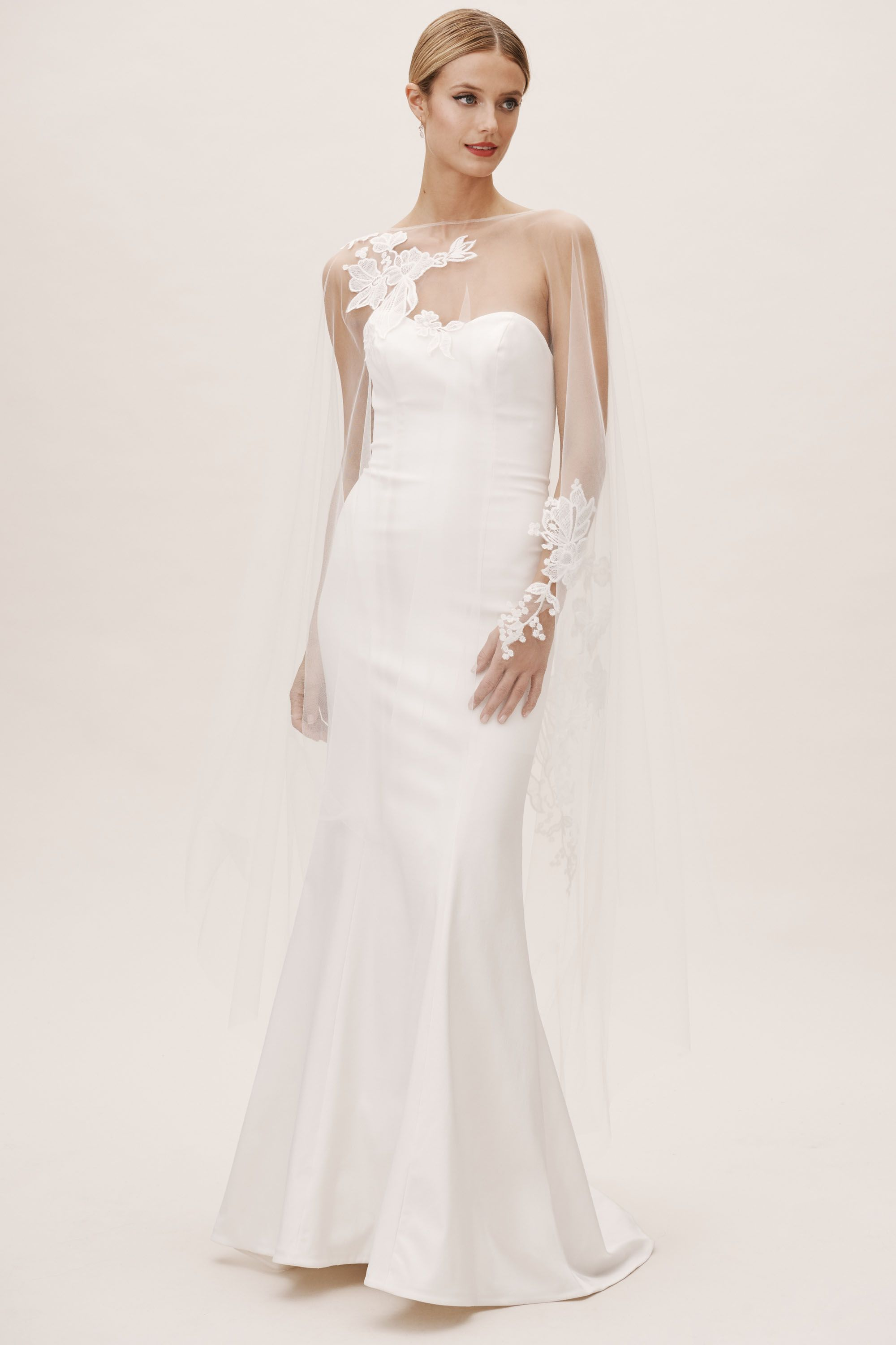 separation shoes 9cc41 2014a BHLDN's Amsale Amsale Inaya Cape in Ivory