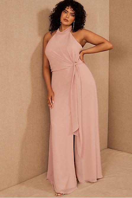 Jenny Yoo Elliya Mock Neck Dress