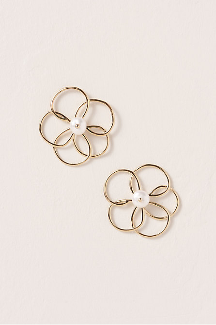 Floral Sketch Earrings