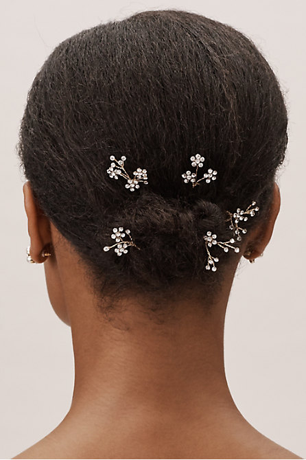 Crystalline Hair Pins (5)
