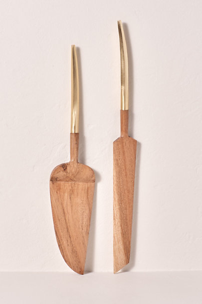 View larger image of Gold Handle Cake Server Set
