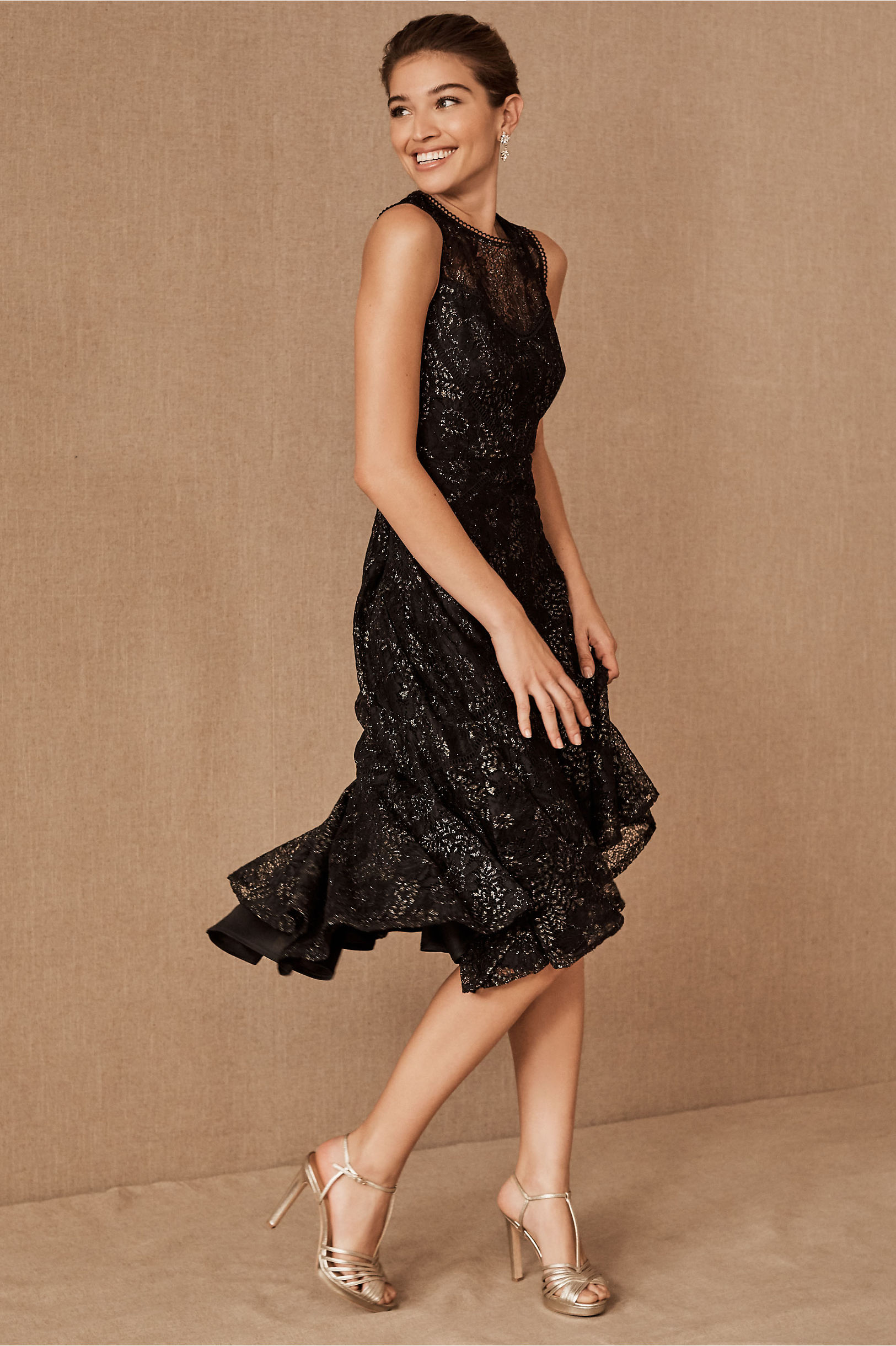 Black Flapper Dresses, 1920s Black Dresses BHLDN Sedelle Dress $245.00 AT vintagedancer.com