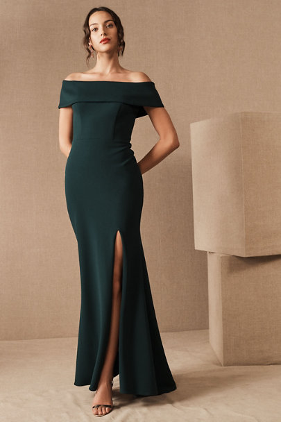 View larger image of Delice Off-the-Shoulder Crepe Dress
