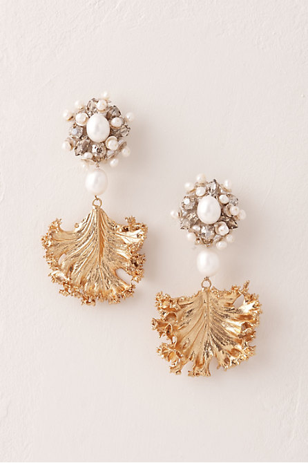 Golden Frond Earrings