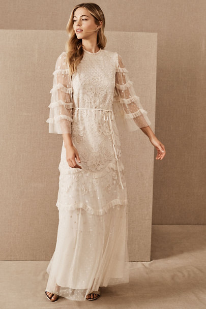 Vintage Inspired Wedding Dresses: 1920s-1960s Needle & Thread Patchwork Lace Dress  AT vintagedancer.com