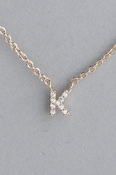 Dainty Monogram Necklace