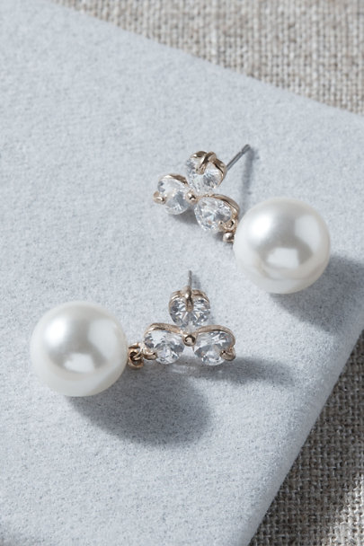 View larger image of Twain Pearl Drop Earrings