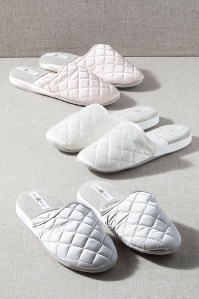 View larger image of Quilted Silk Slippers