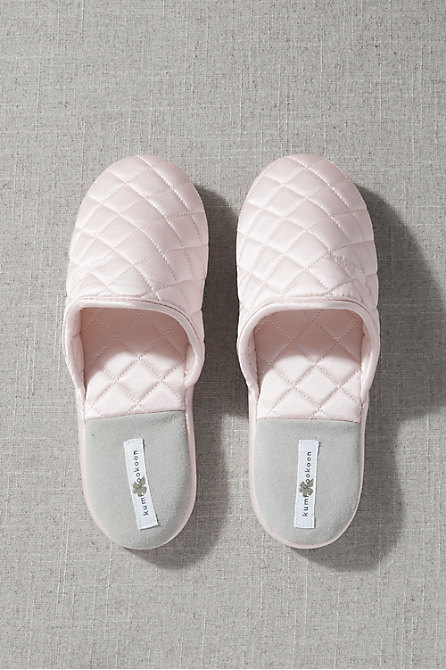 Quilted Silk Slippers