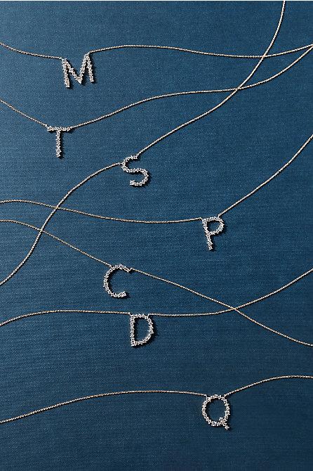 Crystal Monogram Necklace