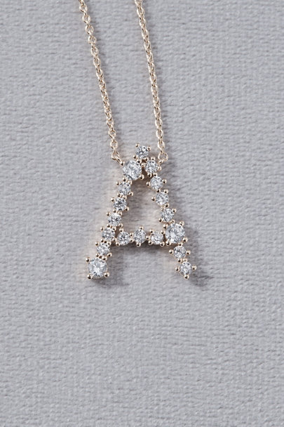 View larger image of Crystal Monogram Necklace