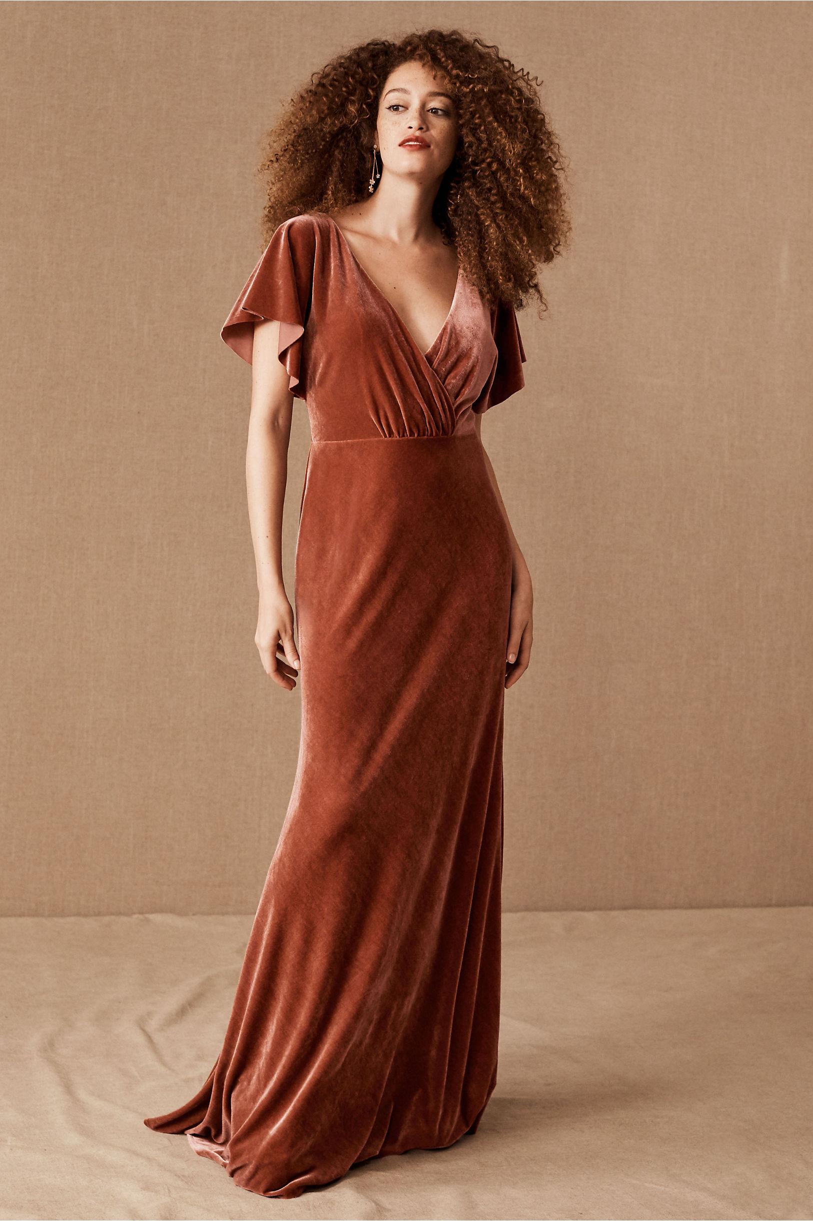 Jenny Yoo Ellis Velvet Open Back Dress