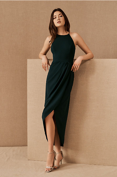 Marceau High-Low Crepe Dress