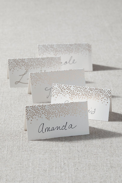 View larger image of Golden Dot Place Cards (8)