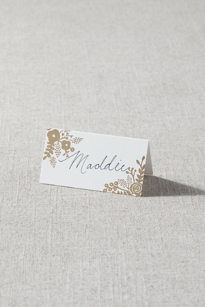 View larger image of Gold Foil Flower Place Cards (8)