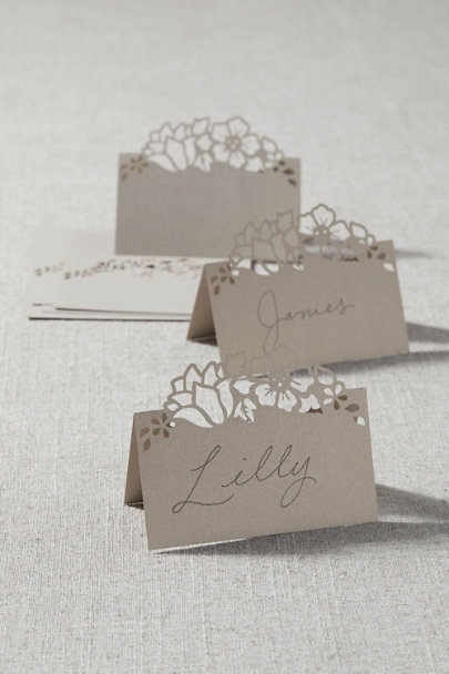 View larger image of Floral Laser Cut Place Cards (8)