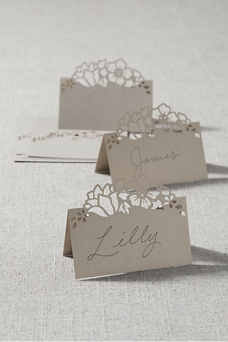 Floral Laser Cut Place Cards (8)