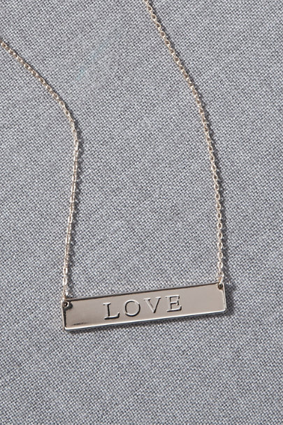 View larger image of LOVE Bar Necklace