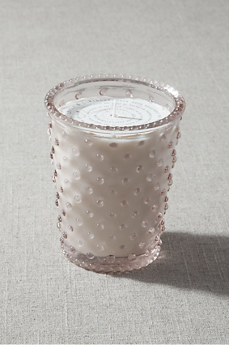 Blooming Hobnail Candle