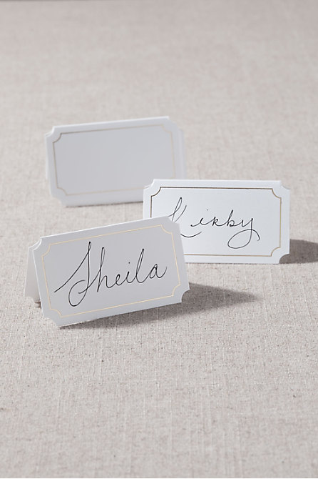 Golden Edge Place Cards (10)
