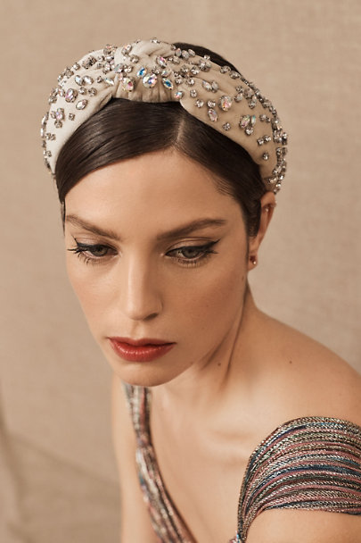 1920s Flapper Headband, Gatsby Headpiece, Wigs Lele Sadoughi Baudine Headband $198.00 AT vintagedancer.com