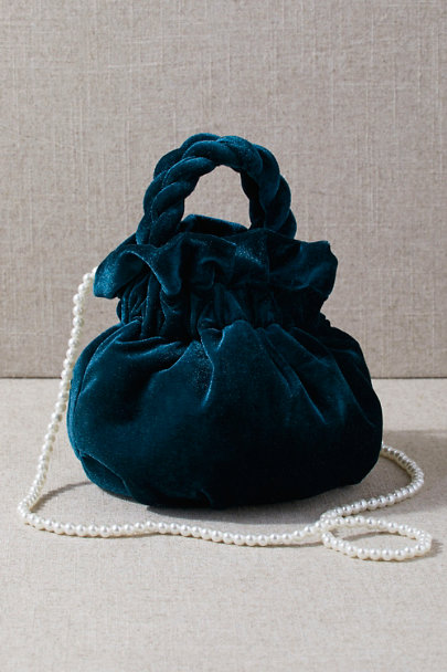 Edwardian Gloves, Handbag, Hair Combs, Wigs Cassis Velvet Bag $68.00 AT vintagedancer.com