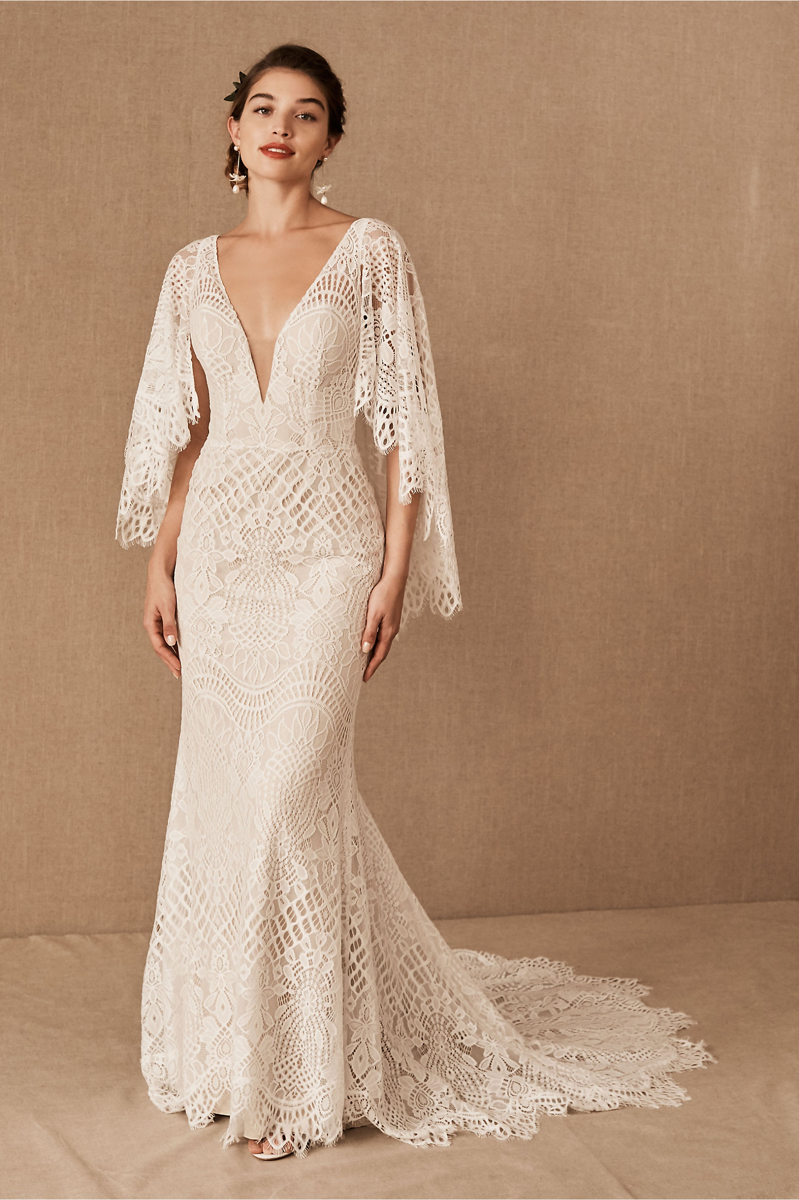 1930s Style Wedding Dresses | Art Deco Wedding Dress BHLDN Odalis Gown  AT vintagedancer.com