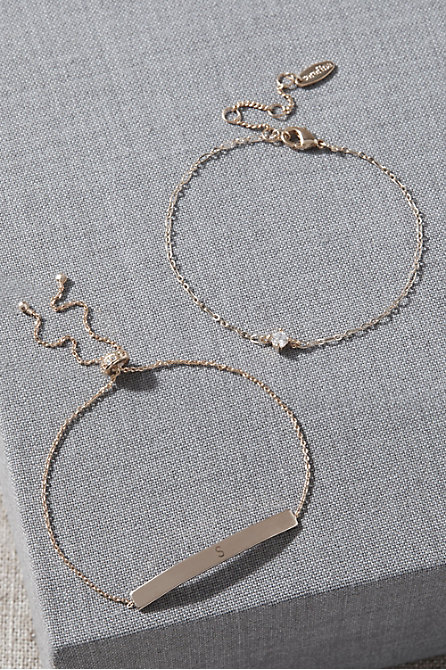 Initial Bracelet Set