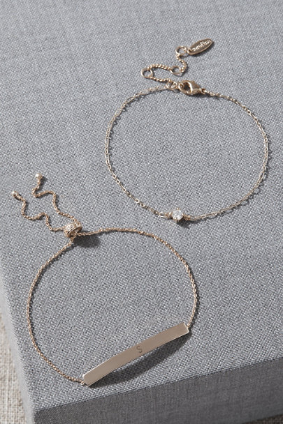 View larger image of Initial Bracelet Set