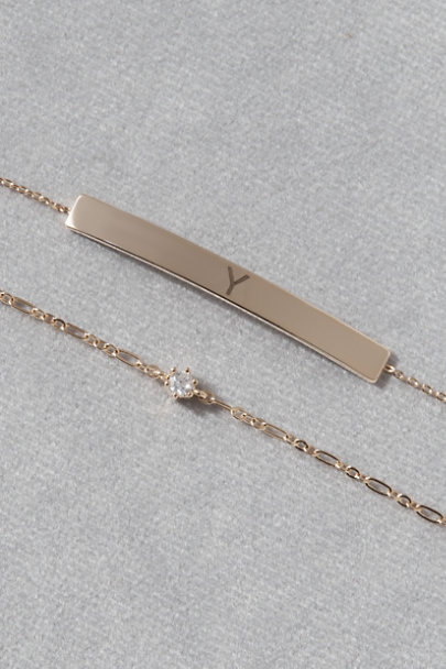 View larger image of Initial Bracelet Set