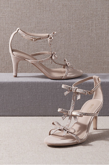 BHLDN Sonja Crystal Heels