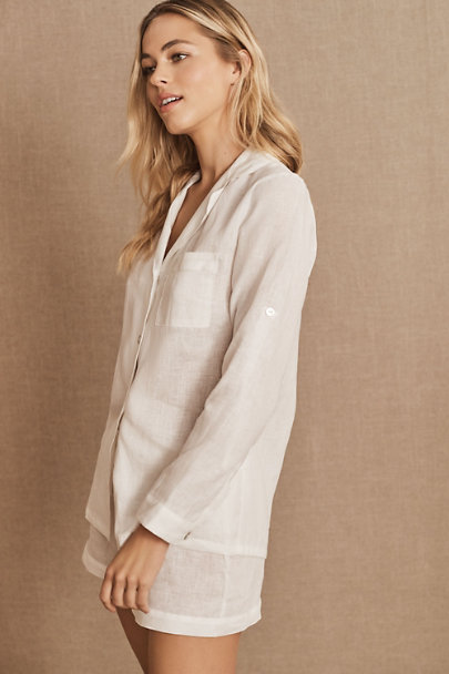 View larger image of Homebodii Tyrell Linen Pajama Set