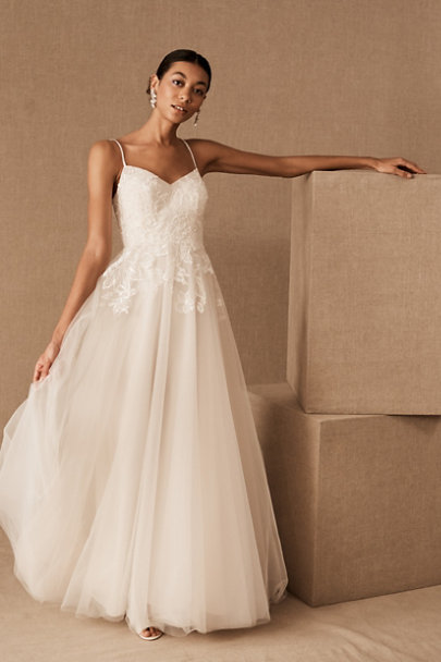 Vintage Inspired Wedding Dresses: 1920s-1960s Wtoo by Watters Celimene Gown $975.00 AT vintagedancer.com