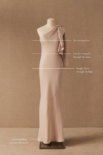View larger image of Montague One-Shoulder Satin Dress