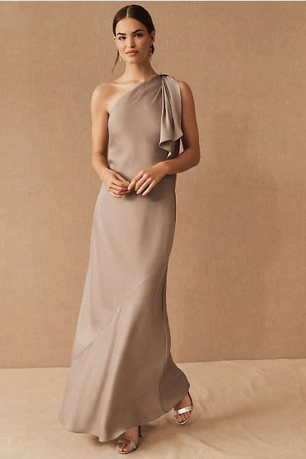Montague One-Shoulder Satin Dress