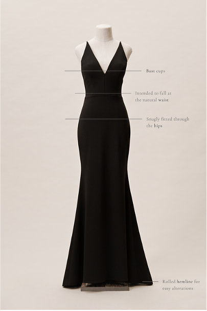 View larger image of Jones V-Neck Crepe Dress