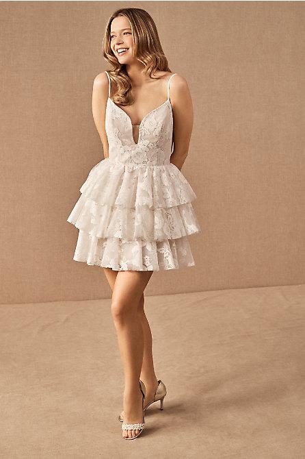 Hayley Paige Clarissa Mini Dress