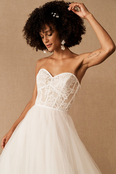 View larger image of Wtoo by Watters Clarinda Strapless Lace Gown