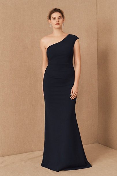 View larger image of Gerri One-Shoulder Crepe Dress